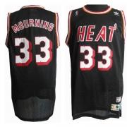 Adidas Alonzo Mourning Miami Heat Swingman Road Throwback Jersey - Black