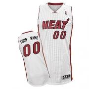 Adidas Customized Miami Heat Authentic Revolution 30 Home Jersey - White