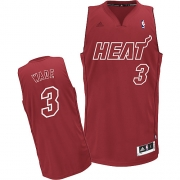 Adidas Dwyane Wade Miami Heat Swingman Big Color Fashion Jersey - Red