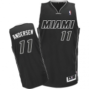 Adidas Chris Andersen Miami Heat Authentic Black Jersey - White
