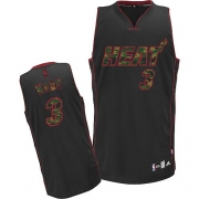 Adidas Dwyane Wade Miami Heat Authentic Camo Fashion Jersey - Black