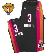 Adidas Dwyane Wade Miami Heat Swingman ABA Hardwood Classic With Finals Patch Jersey - Black