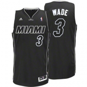 Adidas Dwyane Wade Miami Heat Swingman Black Revolution 30 Jersey - White