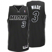 Adidas Dwyane Wade Miami Heat Authentic Black Revolution 30 Jersey - White