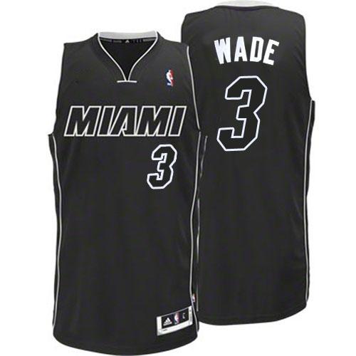 3d000a62c Adidas Dwyane Wade Miami Heat Authentic Black Revolution 30 Jersey - White