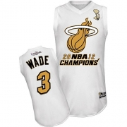 Dwyane Wade Miami Heat Majestic Authentic Home 2012 Finals Champions Jersey - White