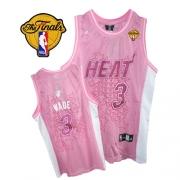 Adidas Dwyane Wade Miami Heat Swingman Women Fashion With Finals Patch Jersey - Pink