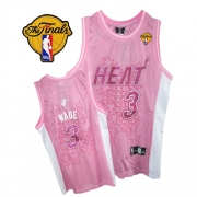 Adidas Dwyane Wade Miami Heat Authentic Women Fashion With Finals Patch Jersey - Pink