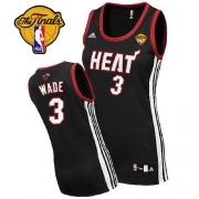 Adidas Dwyane Wade Miami Heat Swingman Womens Road With Finals Patch Jersey - Black