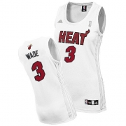 Adidas Dwyane Wade Miami Heat Swingman Women Fashion Jersey - White