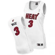 Adidas Dwyane Wade Miami Heat Authentic Women Fashion Jersey - White