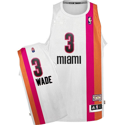 buy popular dd42f fcd03 Adidas Dwyane Wade Miami Heat Authentic ABA Hardwood Classic ...