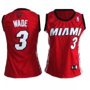 Adidas Dwyane Wade Miami Heat Authentic Womens Alternate Jersey - Red