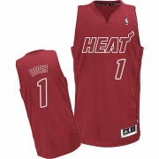 Adidas Chris Bosh Miami Heat Authentic Big Color Fashion Jersey - Red
