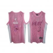 Adidas Dwyane Wade Miami Heat Swingman Women Fashion Jersey - Pink
