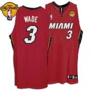 Adidas Dwyane Wade Miami Heat Youth Alternate Authentic With Finals Patch Jersey - Red
