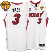 Adidas Dwyane Wade Miami Heat Youth Home Authentic With Finals Patch Jersey - White