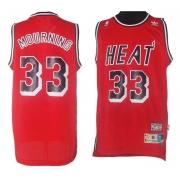 Adidas Alonzo Mourning Miami Heat Swingman Alternate Throwback Jersey - Red