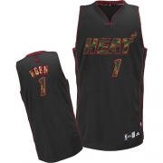 Adidas Chris Bosh Miami Heat Authentic Camo Fashion Jersey - Black