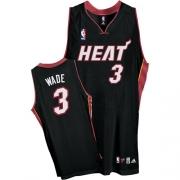 Adidas Dwyane Wade Miami Heat Youth Road Swingman Jersey - Black