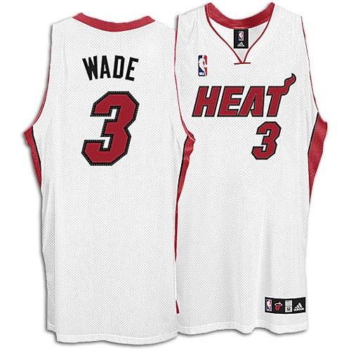 official photos 0031f 7f225 Adidas Dwyane Wade Miami Heat Home Swingman Jersey - White