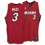 Adidas Dwyane Wade Miami Heat Youth Alternate Authentic Jersey - Red