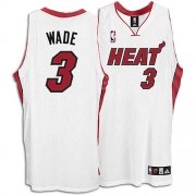 Adidas Dwyane Wade Miami Heat Youth Home Authentic Jersey - White