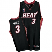 Adidas Dwyane Wade Miami Heat Youth Road Authentic Jersey - Black