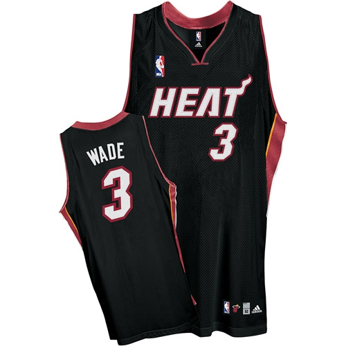 new product 57286 55b1a Adidas Dwyane Wade Miami Heat Youth Road Authentic Jersey ...