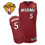 Adidas Juwan Howard Miami Heat Authentic Alternate Revolution 30 With Finals Patch Jersey - Red