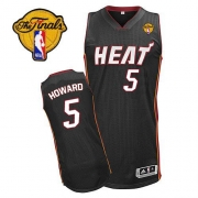 Adidas Juwan Howard Miami Heat Authentic Road Revolution 30 With Finals Patch Jersey - Black