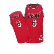 Adidas LeBron James Miami Heat Authentic Hardwood Classics Nights Jersey - Red