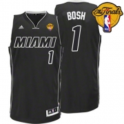 Adidas Chris Bosh Miami Heat Swingman Black Revolution 30 With 2012 Finals Patch Jersey - White