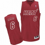 Adidas LeBron James Miami Heat Authentic Big Color Fashion Jersey - Red