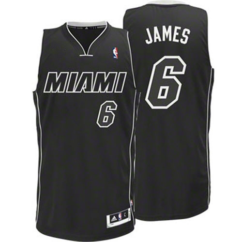 the best attitude 16c56 e6bdb lebron james miami heat black jersey