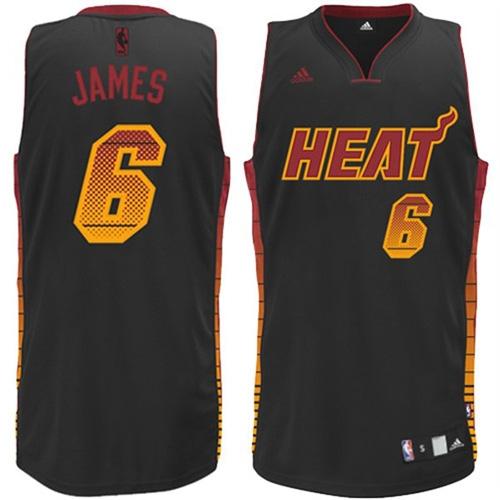 hot sale online 994a9 4a6c8 Adidas LeBron James Miami Heat Vibe Swingman Jersey - Black