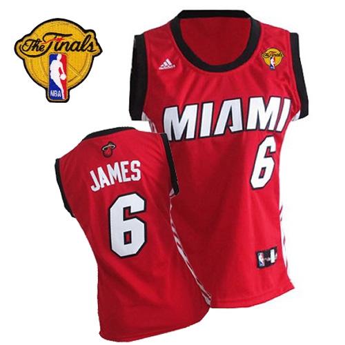 outlet store 1707d 9b3d0 Adidas LeBron James Miami Heat Swingman Womens Alternate ...