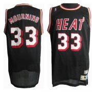 Adidas Alonzo Mourning Miami Heat Authentic Road Throwback Jersey - Black