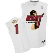 Adidas Chris Bosh Miami Heat Authentic Home 2012 Finals Champions Jersey - White