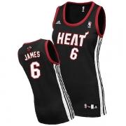 Adidas LeBron James Miami Heat Swingman Womens Road Jersey - Black