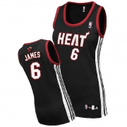Adidas LeBron James Miami Heat Authentic Womens Road Jersey - Black