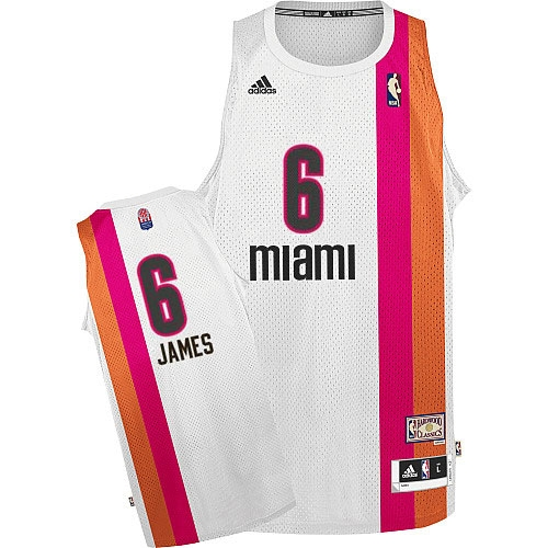 Adidas LeBron James Miami Heat Authentic ABA Hardwood Classic ...
