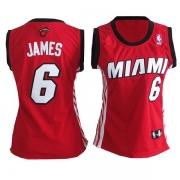 Adidas LeBron James Miami Heat Authentic Womens Alternate Jersey - Red
