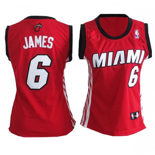 premium selection df852 137cc LeBron James Authentic Womens Alternate Jersey - Red Adidas ...