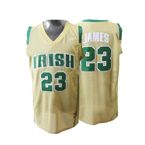 LeBron James Authentic Earth Irish High School Jersey - Yellow