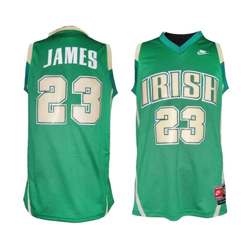 newest collection 5fdc5 775bc LeBron James Swingman Irish High School Jersey - Green Nike ...