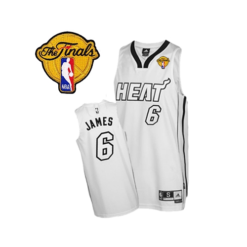 finest selection c5635 b69bb LeBron James Authentic on Home With Finals Patch Jersey ...