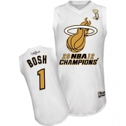 Chris Bosh Miami Heat Majestic Authentic Home 2012 Finals Champions Jersey - White