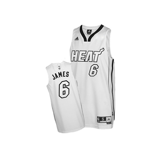 wholesale dealer 07235 e082a Adidas LeBron James Miami Heat Swingman on Home Jersey - White