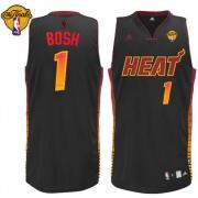 Adidas Chris Bosh Miami Heat Vibe Swingman With Finals Patch Jersey - Black